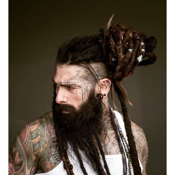High Fade with Twisted dreadlock styles for men