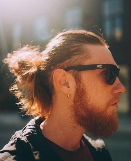High Ginger Man Bun
