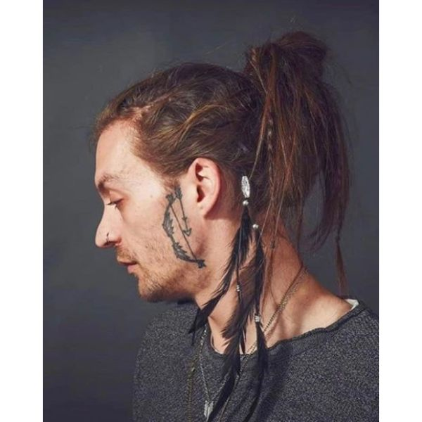 Hippie Style Man Bun