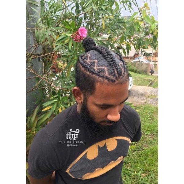 Man Bun with Braid Man Bun Hairstyles