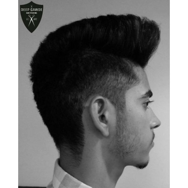 Mullet Mohawk Hairstyle for Men with Straight Hair