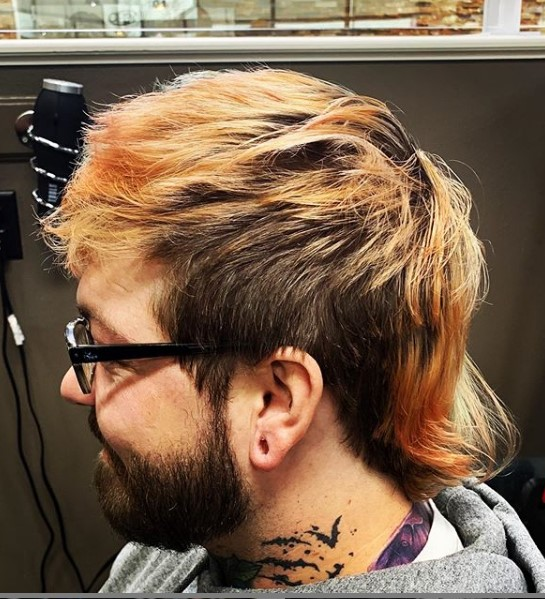 Punk Mullet Hairstyle with Blonde Highlights punk hairstyles for guys