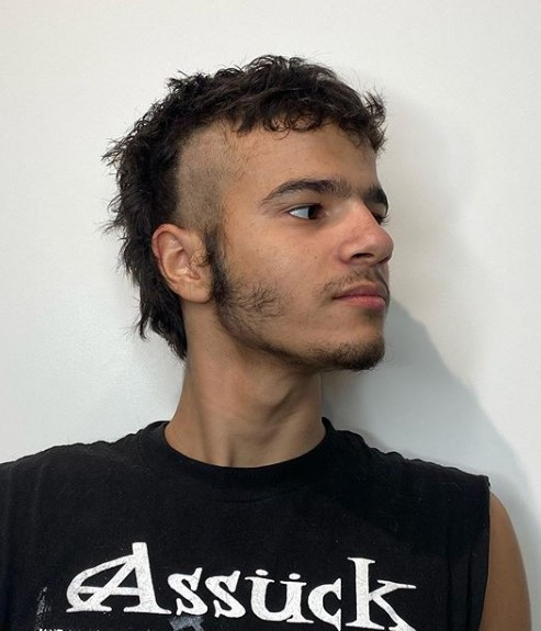 Punk Mullet Hairstyle with Shaved Sides punk hairstyles for guys