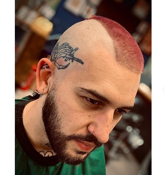 Razor Fade with punk hairstyles for guys