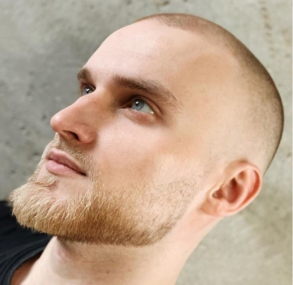 Sharp Fade With Small Beard punk hairstyles for guys