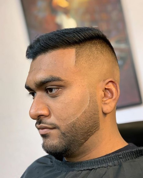 Sharp High Fade with Textured Top