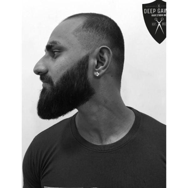 Short Hair with Long Beard Hairstyle