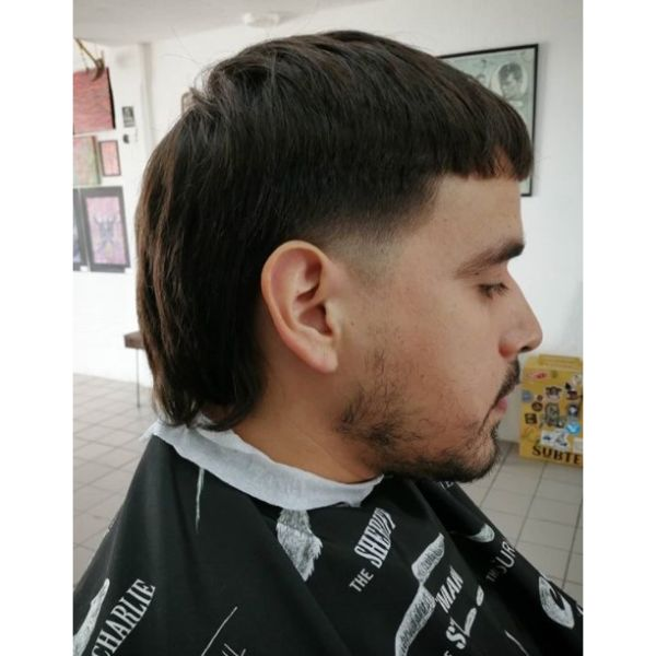 Short Mullet Hairstyle For Men With Straight Hair