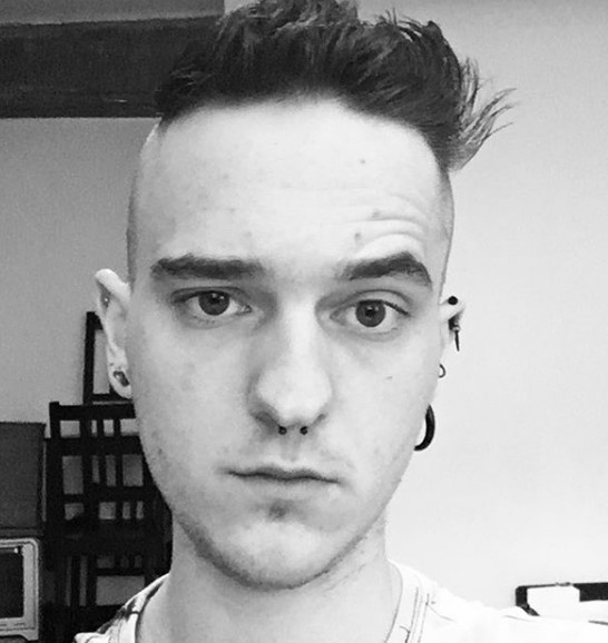 Short Zero Shaved punk hairstyles for guys