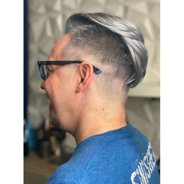 Silver Fox Slicked Back Undercut Hairstyle