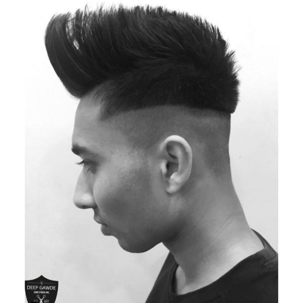 Skin Fade with Mohawk Hairstyle For Straight Hair