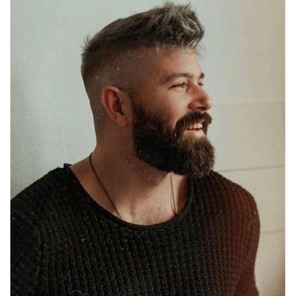 Skin Fade with Textured Front Quiff