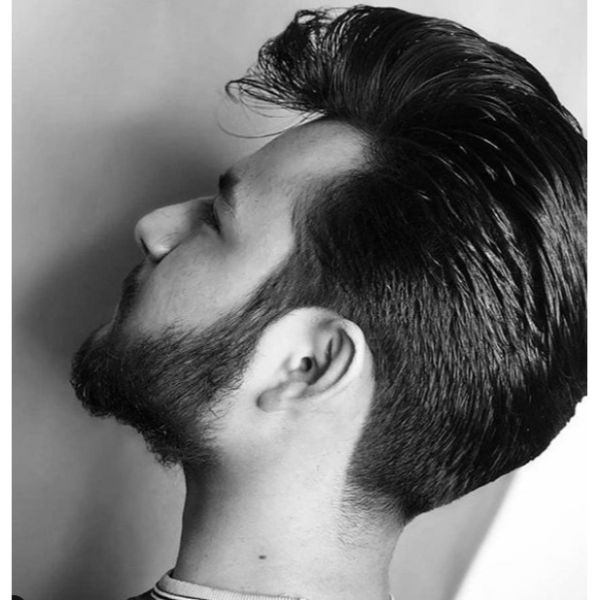 Sleek Pompadour Hairstyle For Men With Straight Hair