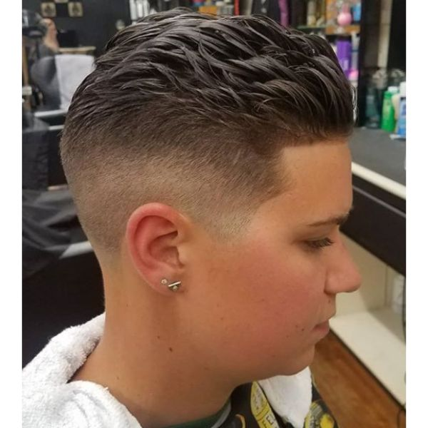 Sleek Spiky Top with Faded Sides