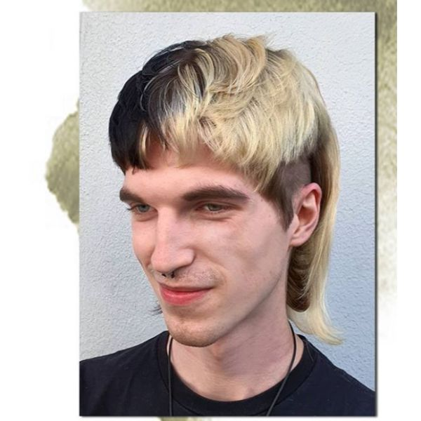 Split Mullet Hairstyles For Men With Straight Hair