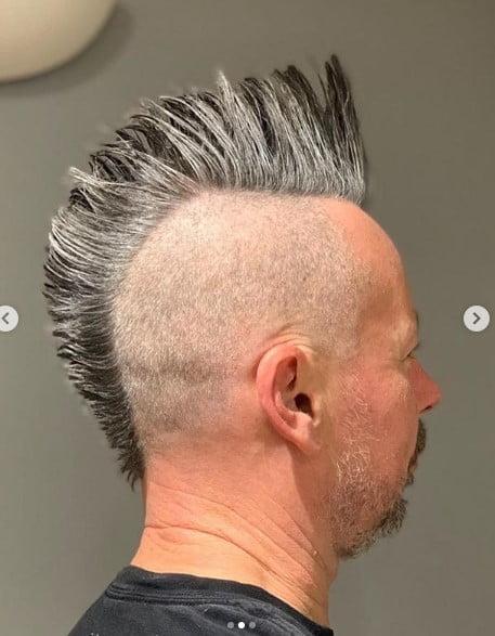 Stick Straight Sleek Punk Mohawk Hairstyle