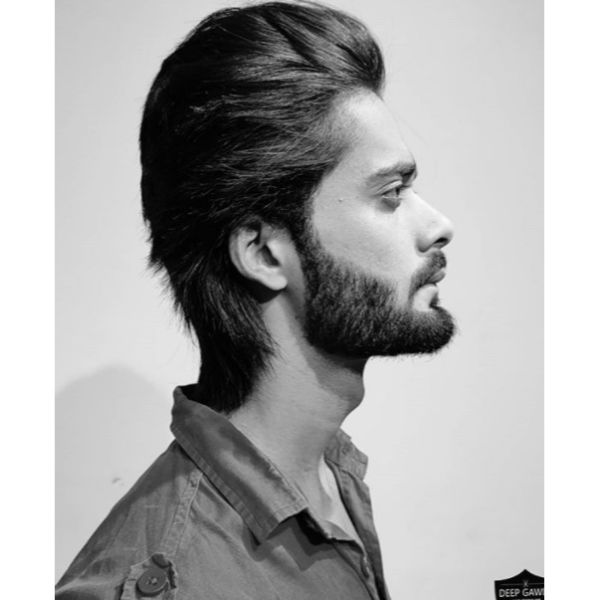 Swept Back Flow Haircut For Straight Hair