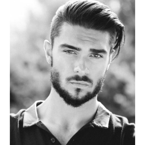 Taper Cut with Slick-back Hairstyle For Men