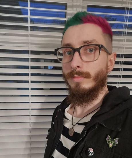 Two-colored Short Punk Hairstyle