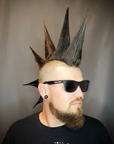 Ultra-high Liberty Spikes Punk Hairstyle punk hairstyles for guys
