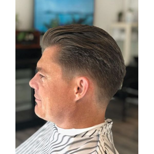 Undercut Haircut with Gray Strands silver grey hair men