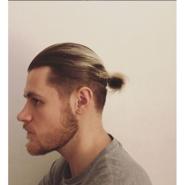 Undercut with High Fade and Messy Knot