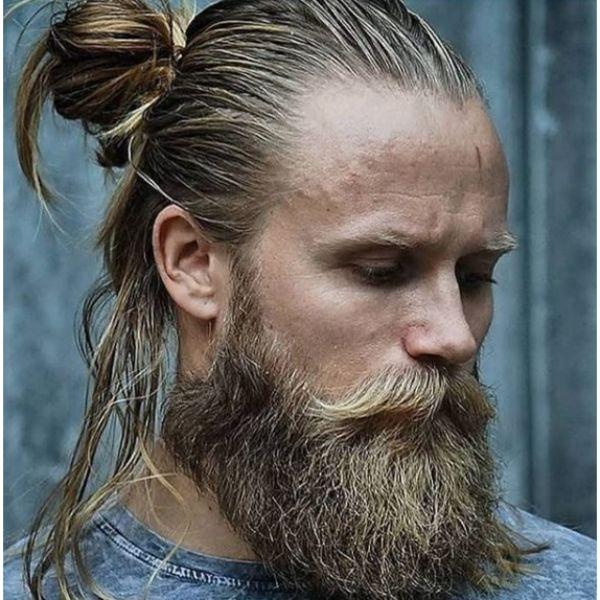 Viking Man Bun Hairstyle