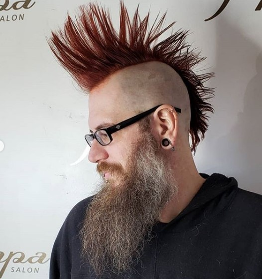 Zero Fade with Liberty Spikes Hairstyle punk hairstyles for guys