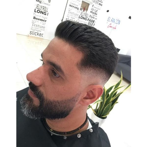 Flattop Hairstyle with Low Fade