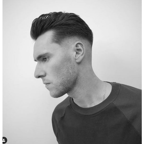 Modern Pompadour with Low Fade Hairstyle