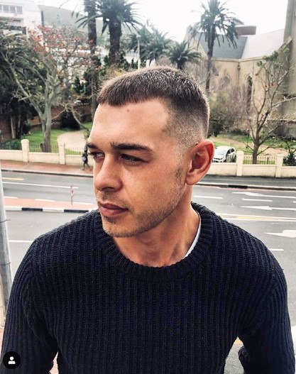 Short Buzz Cut Hairstyle for Mature Hairline
