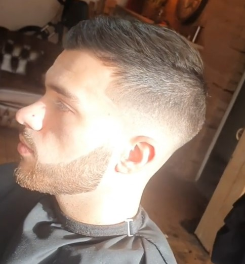 Spiky Hairstyle with Shaved Sides