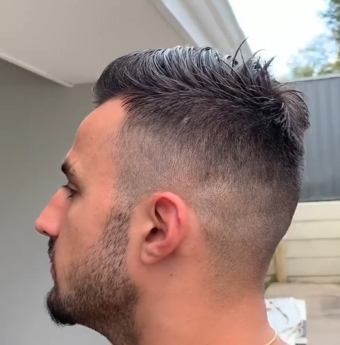 Tight Skin Fade with Trimmed Scissors Top