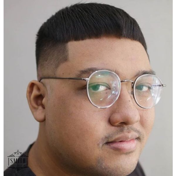 Asian Caesar Cut Hairstyle