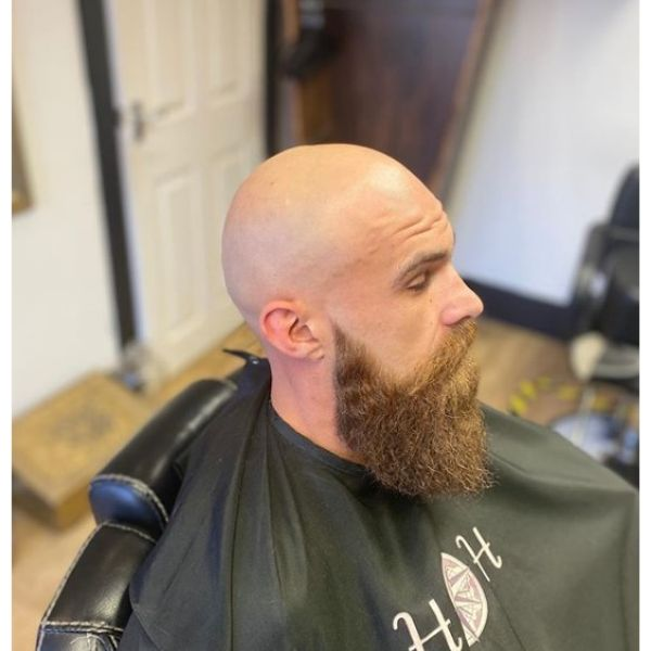 Bald Fade with Pointy Beard