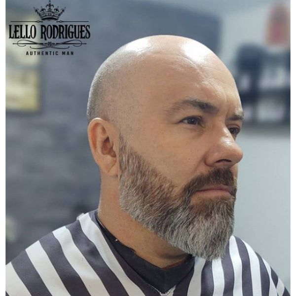 Bald Fade with Spartan Beard Hairstyle