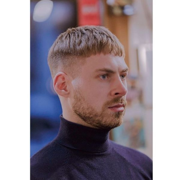 Blonde Caesar Cut