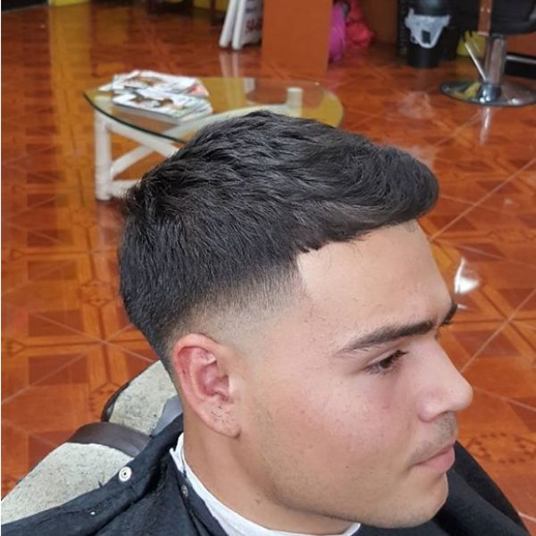 Blurry Fade with Spiky Top Hairstyle