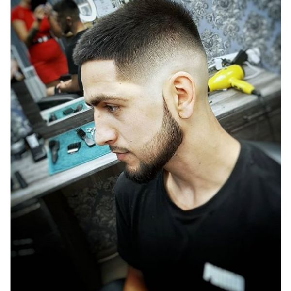 Caesar Cut with Blurry Fade