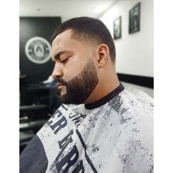 Man Hairstyle with Fine Trimmed Beard