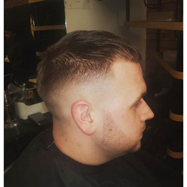 Classic Caesar Cut with Low Fade