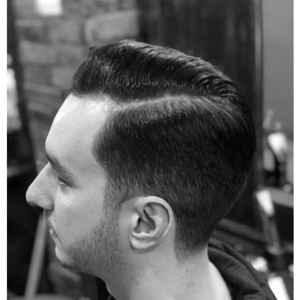 Classic Skin Fade with Side Part