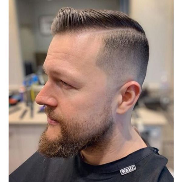 Comb-over With Skin Fade Hairstyle