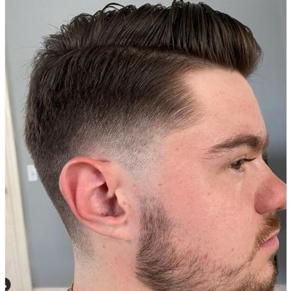 Combover Cut With Side Part Hairstyle 1950s mens hairstyles
