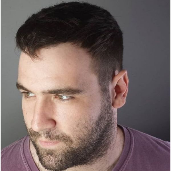 Cropped Cut With Beard Hairstyle