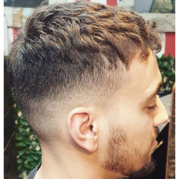 Curly Taper With Skin Fade