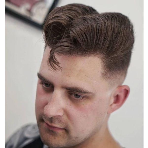 Elephants Trunk Haircut With Falling Strands 1950s mens hairstyles