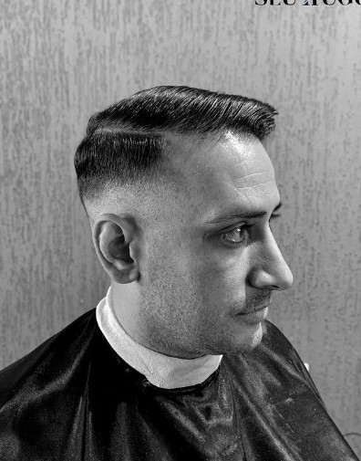 Executive Cut with Short Fade 1950s mens hairstyles