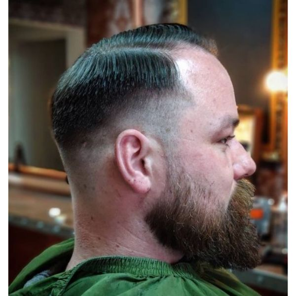 Executive Taper Haircut with Side Parted Hairstyle 1950s mens hairstyles