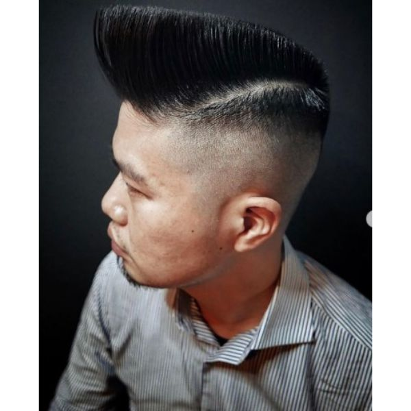 Flattop Haircut With Trimmed Sides 1950s mens hairstyles